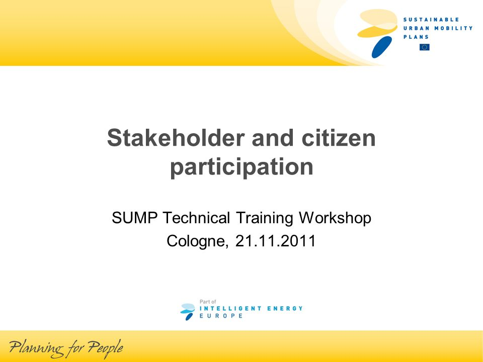 Stakeholder and citizen participation, Jan Christiaens, 21.11.2011 Why.