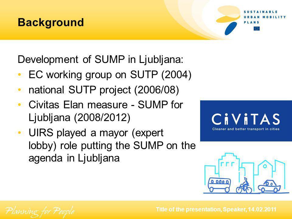 Title of the presentation, Speaker, 14.02.2011 Modal shift in Ljubljana, 1994 – 2003 100% -29% -37% +37%