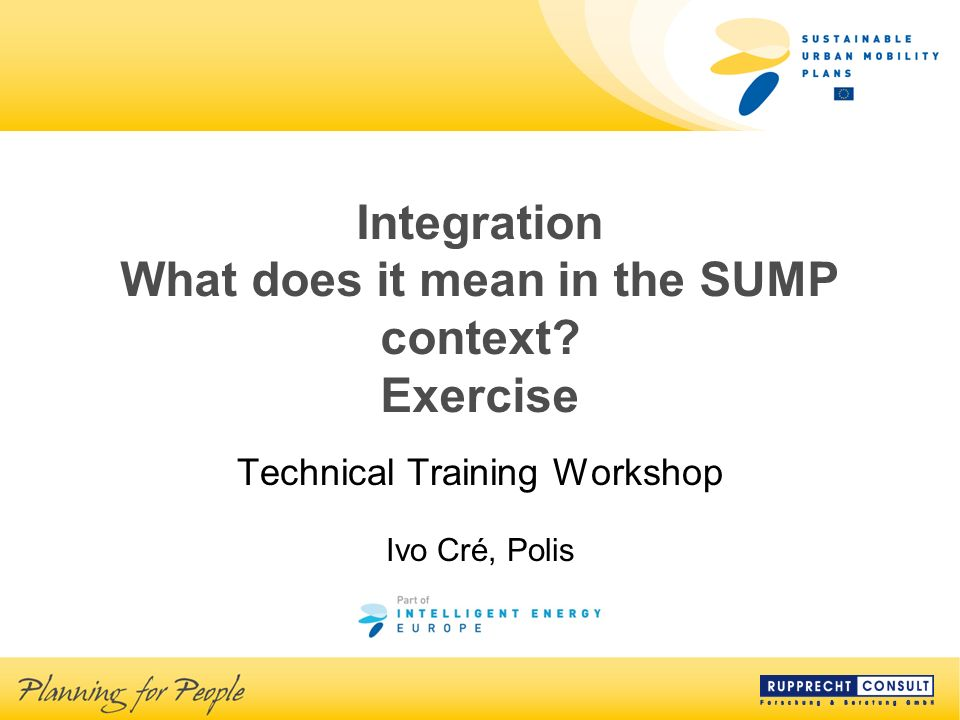 Integration What does it mean in the SUMP context.