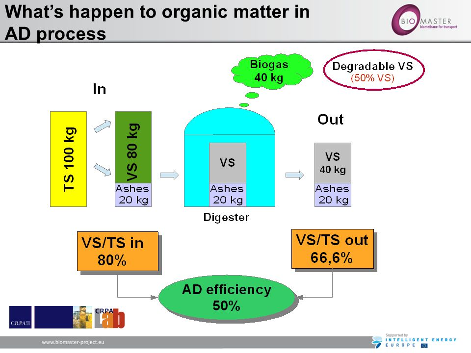 Whats happen to organic matter in AD process