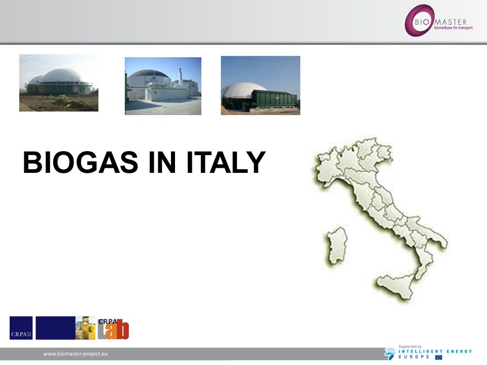 BIOGAS IN ITALY