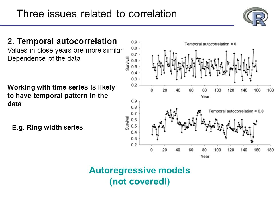 Three issues related to correlation 2.