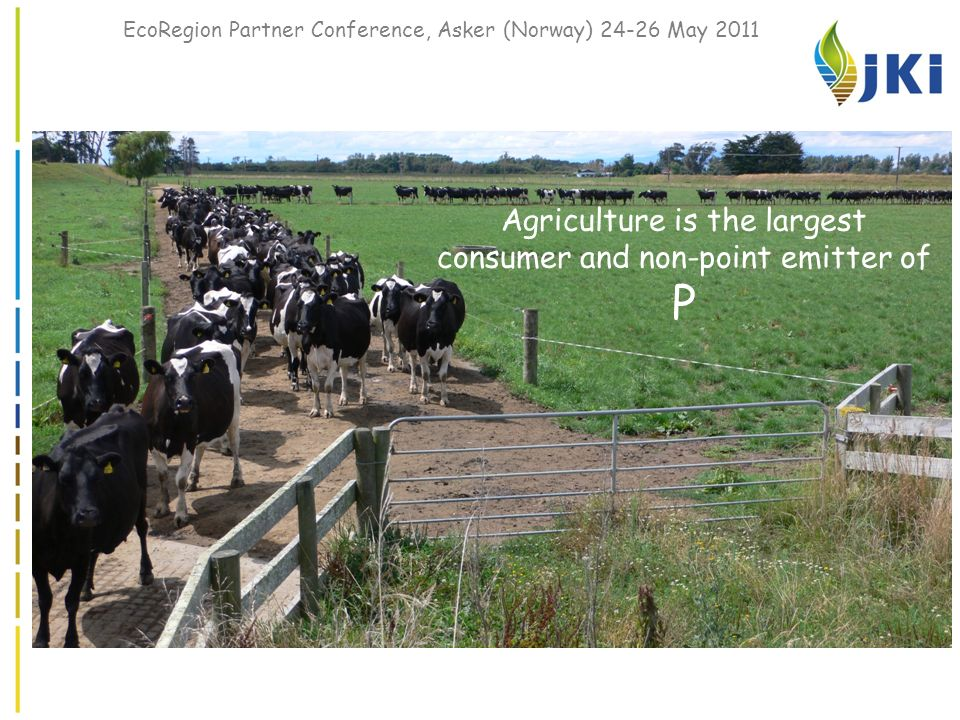 EcoRegion Partner Conference, Asker (Norway) 24-26 May 2011 Agriculture is the largest consumer and non-point emitter of P