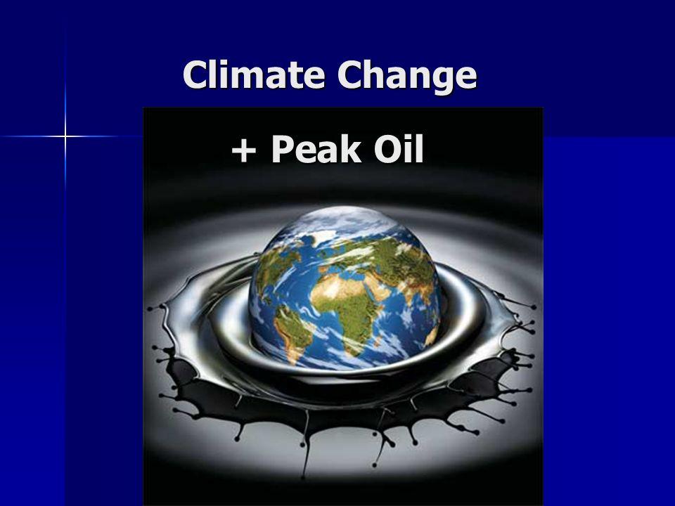 Climate Change + Peak Oil
