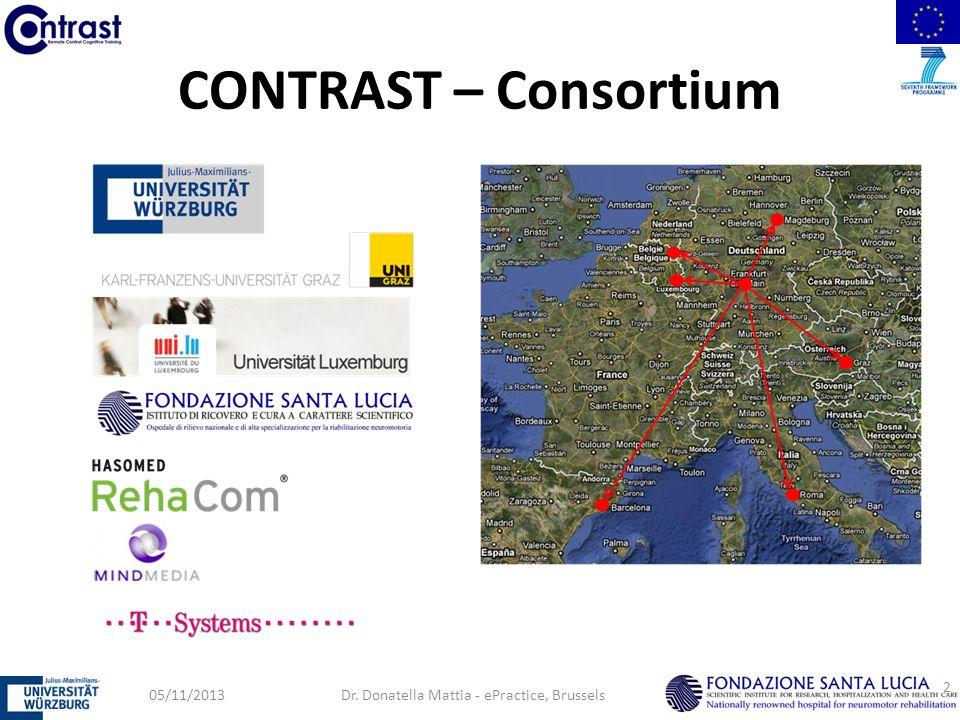 CONTRAST – Consortium 05/11/2013Dr. Donatella Mattia - ePractice, Brussels 2