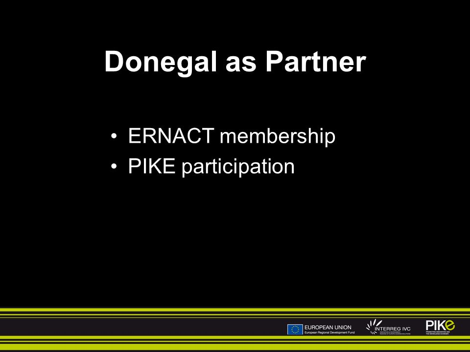 Donegal as Partner ERNACT membership PIKE participation
