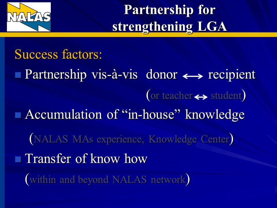 Why NALAS needs partners.