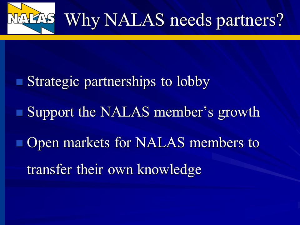 Thanks for your attention www.nalas.eu