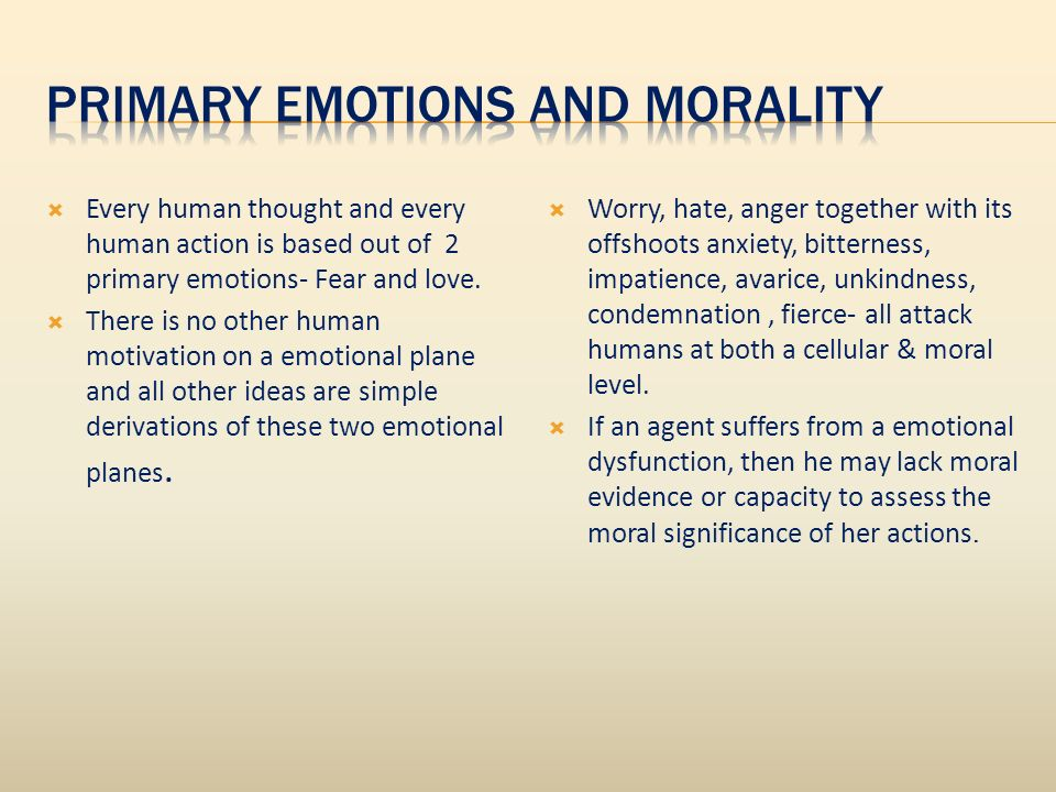 Every human thought and every human action is based out of 2 primary emotions- Fear and love.