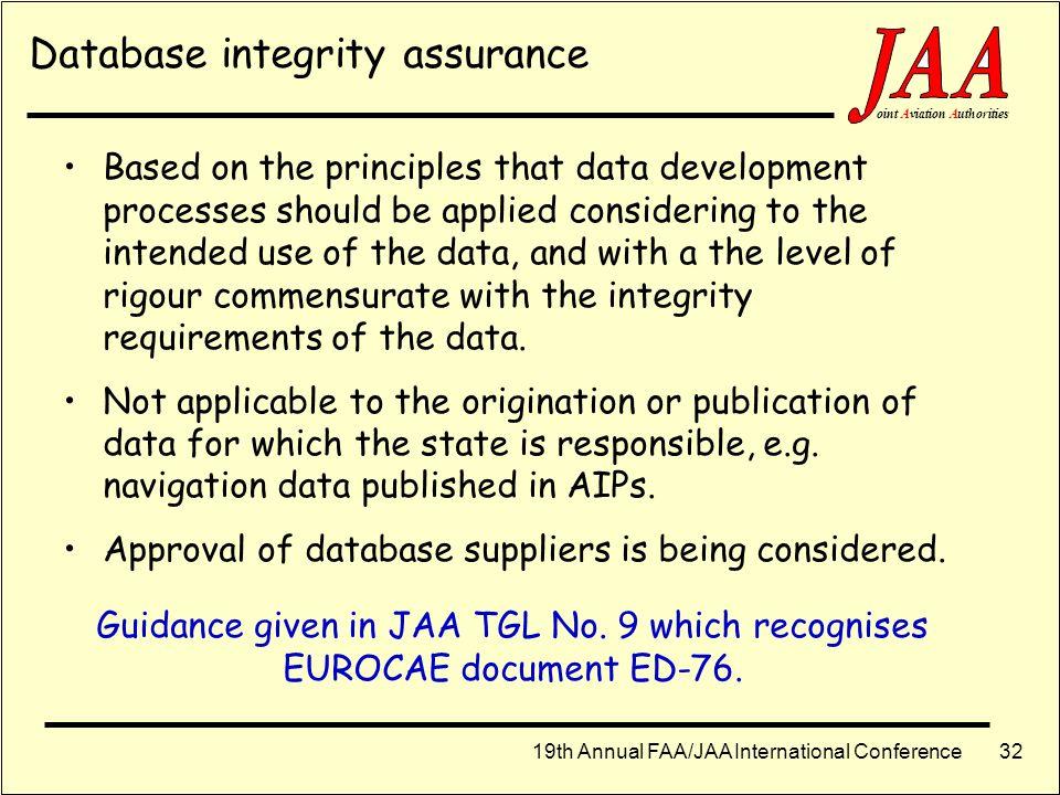 19th Annual FAA/JAA International Conference ointAviationAuthorities 31 Strategic Roadmap - Approach & Landing 201020052000 2015 Provide NPA Provide P