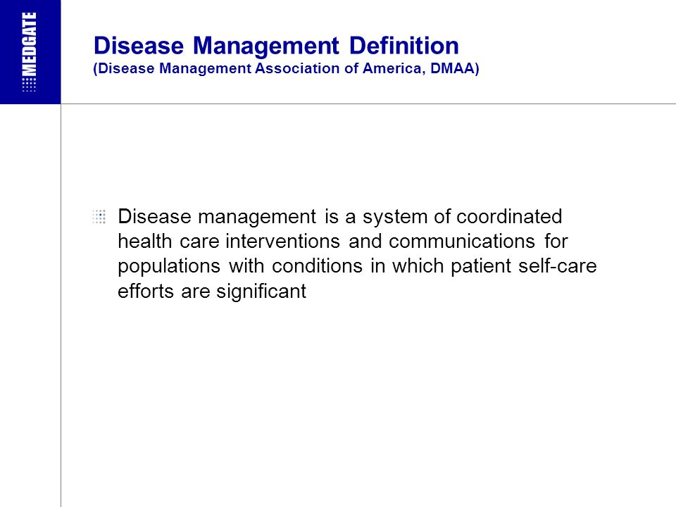 Telemedical Disease Management: Today up to 10 described Intervention Models Anamnesis Clinical signs, Symptoms Studies Diagnosis Risk-Stratification Therapy-Plan Follow-up goals Adjustment phase Monitoring phase New clinical symptomsStable Situation Follow-up Biomarker Doctor Follow-up Biomarker Self management Doctor Telebiomonitoring/ Feedback Recruiting Basic investigation and Treatment planning Basic training Cont.