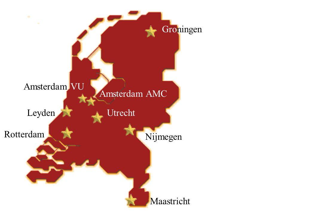 Groningen Nijmegen Maastricht Rotterdam UtrechtLeyden Amsterdam AMC Amsterdam VU