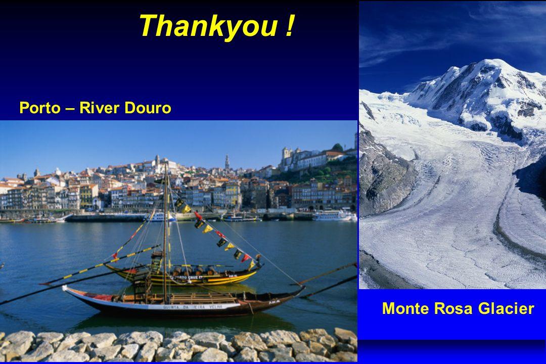 Porto – River Douro Monte Rosa Glacier Thankyou !