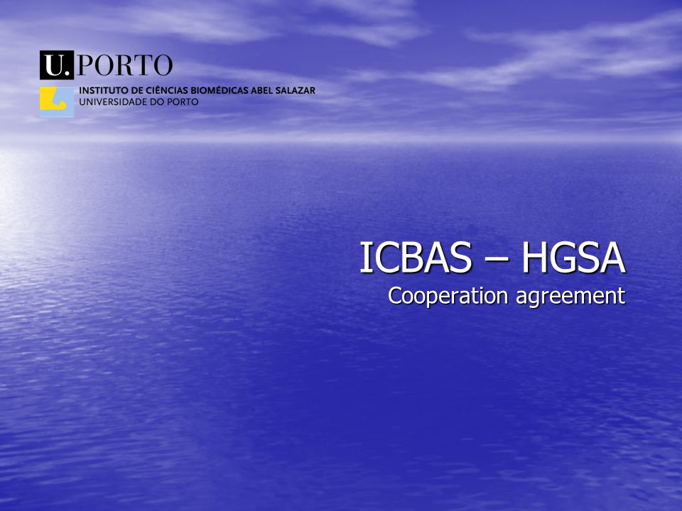 ICBAS – HGSA Cooperation agreement