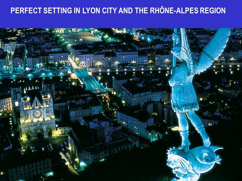 PERFECT SETTING IN LYON CITY AND THE RHÔNE-ALPES REGION