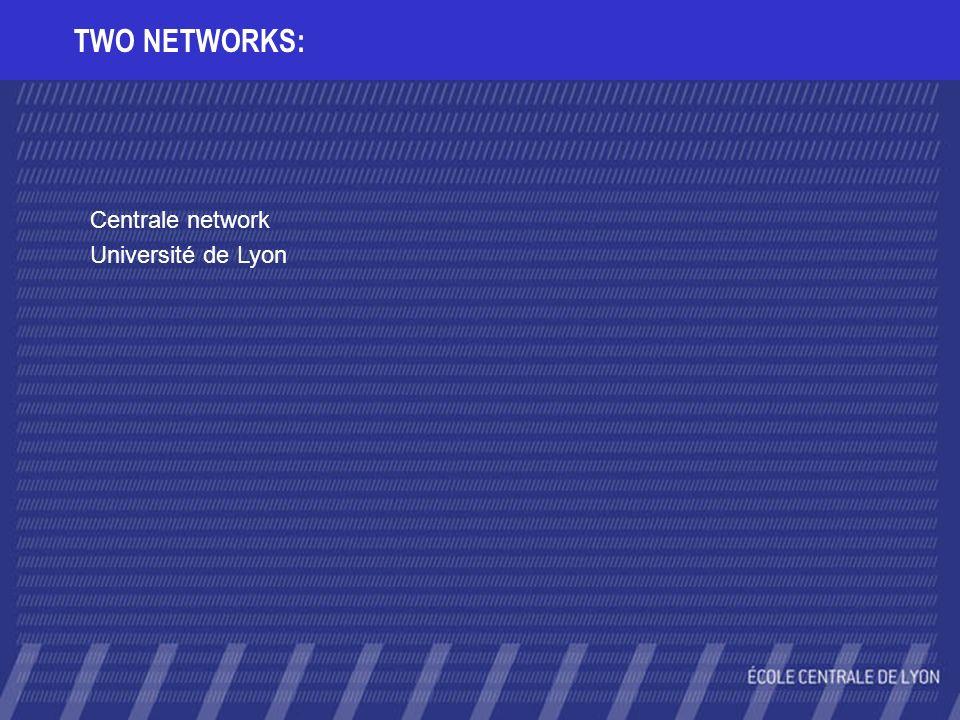TWO NETWORKS: Centrale network Université de Lyon