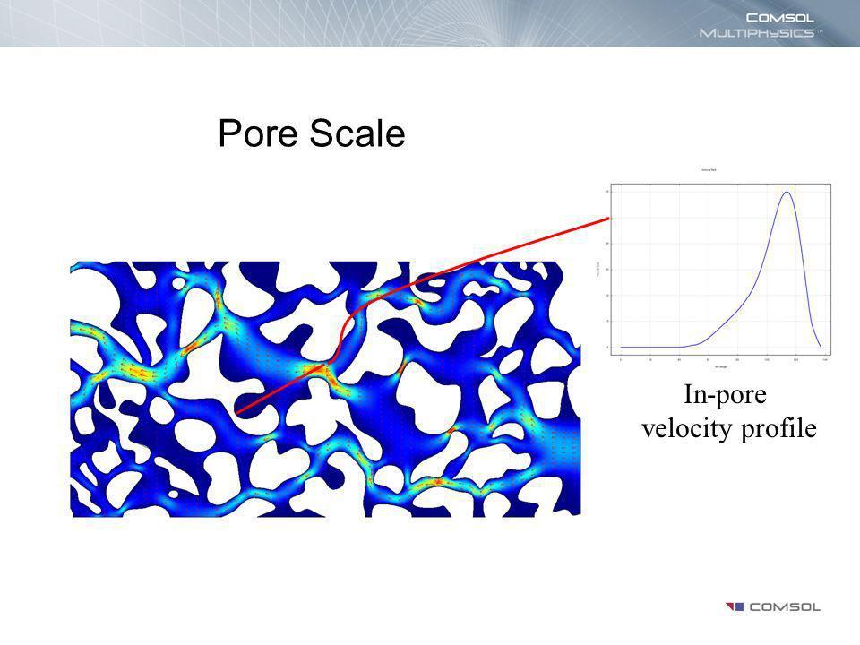 In-pore velocity profile Pore Scale