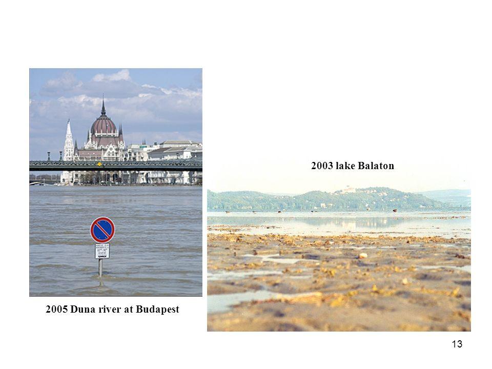 13 2005 Duna river at Budapest 2003 lake Balaton