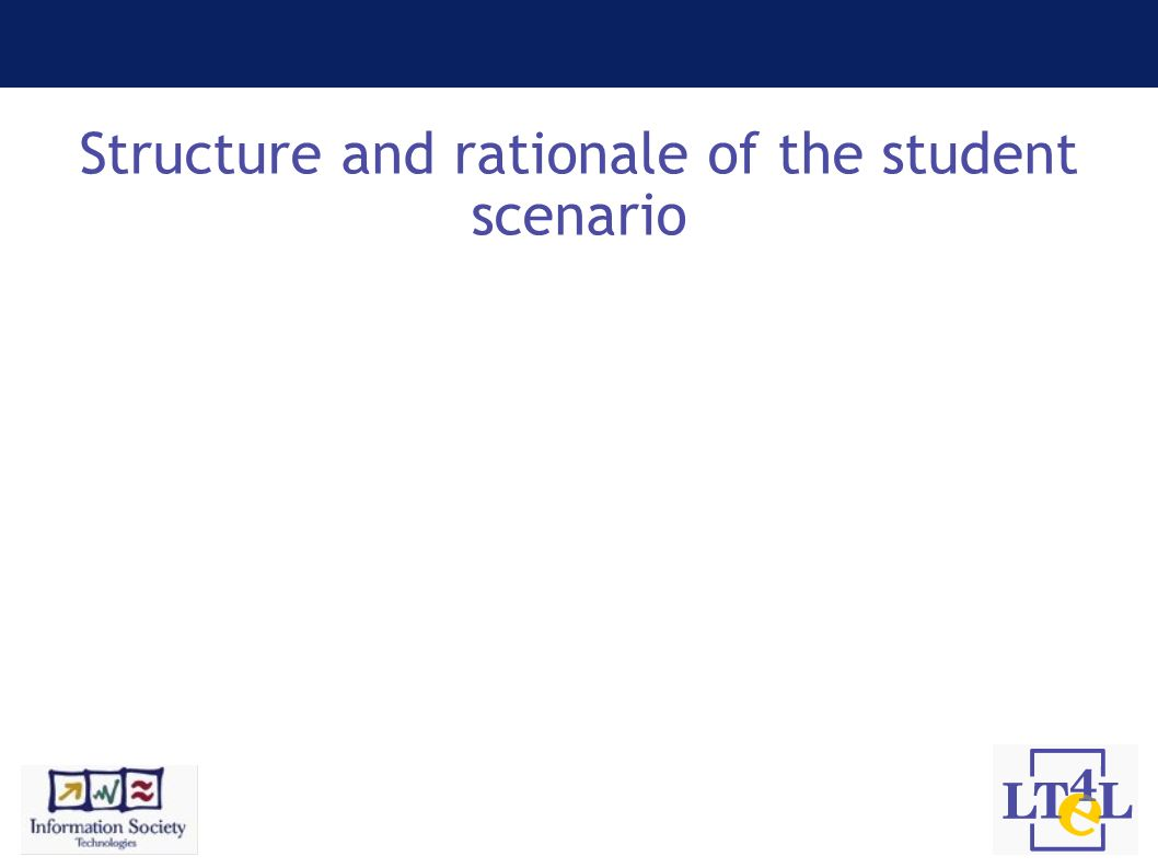 Structure and rationale of the student scenario