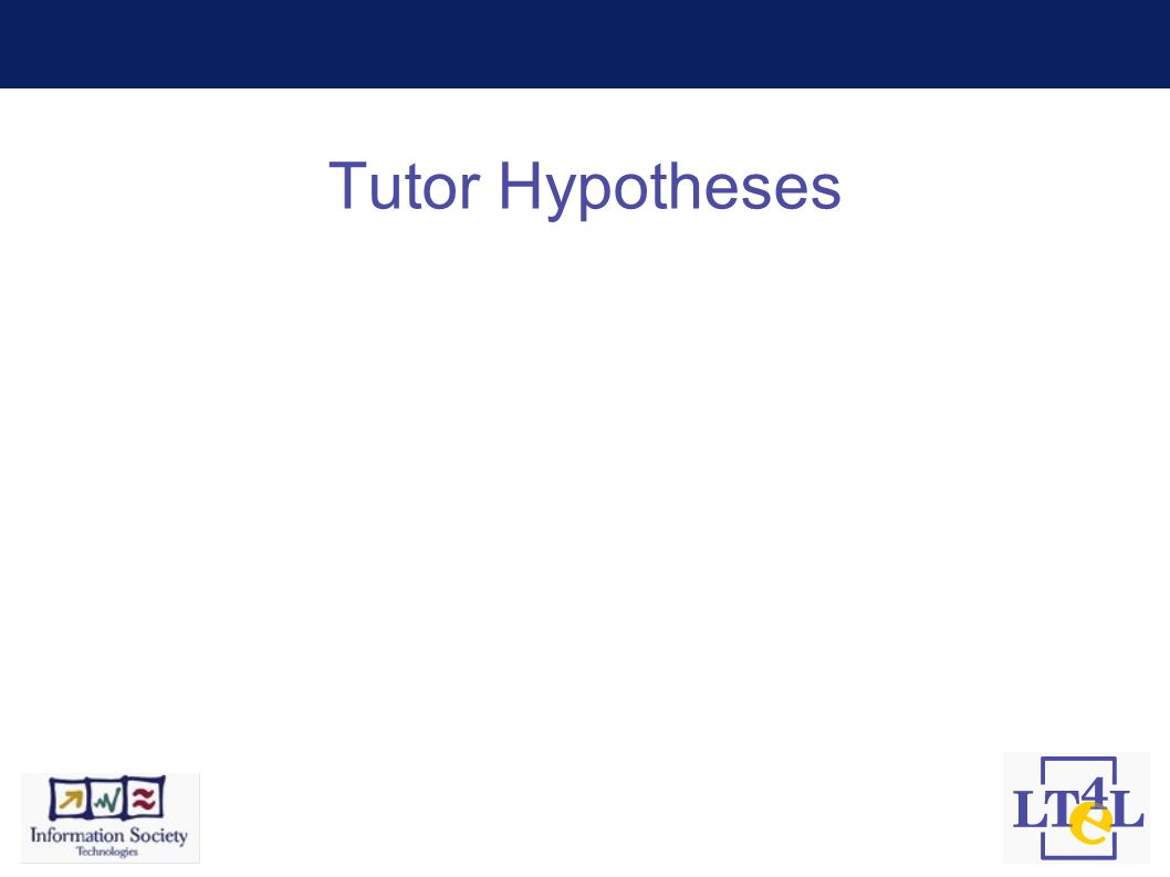 Tutor Hypotheses