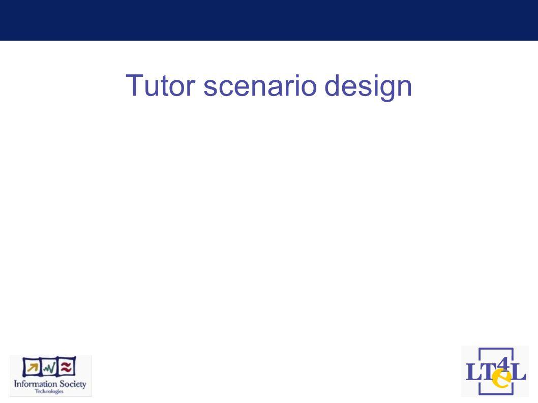 Tutor scenario design