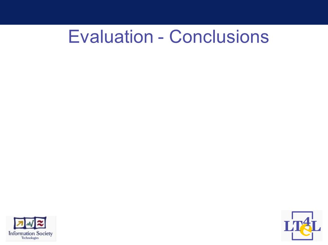 Evaluation - Conclusions
