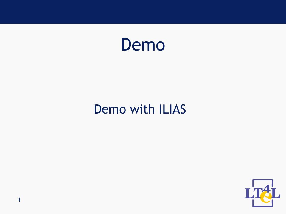 4 Demo with ILIAS Demo