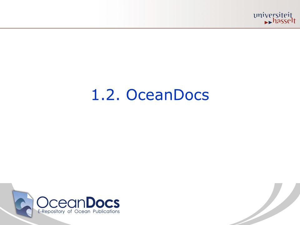 1.2. OceanDocs