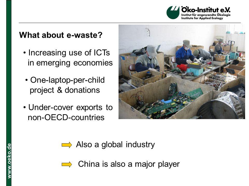 www.oeko.de What about e-waste.