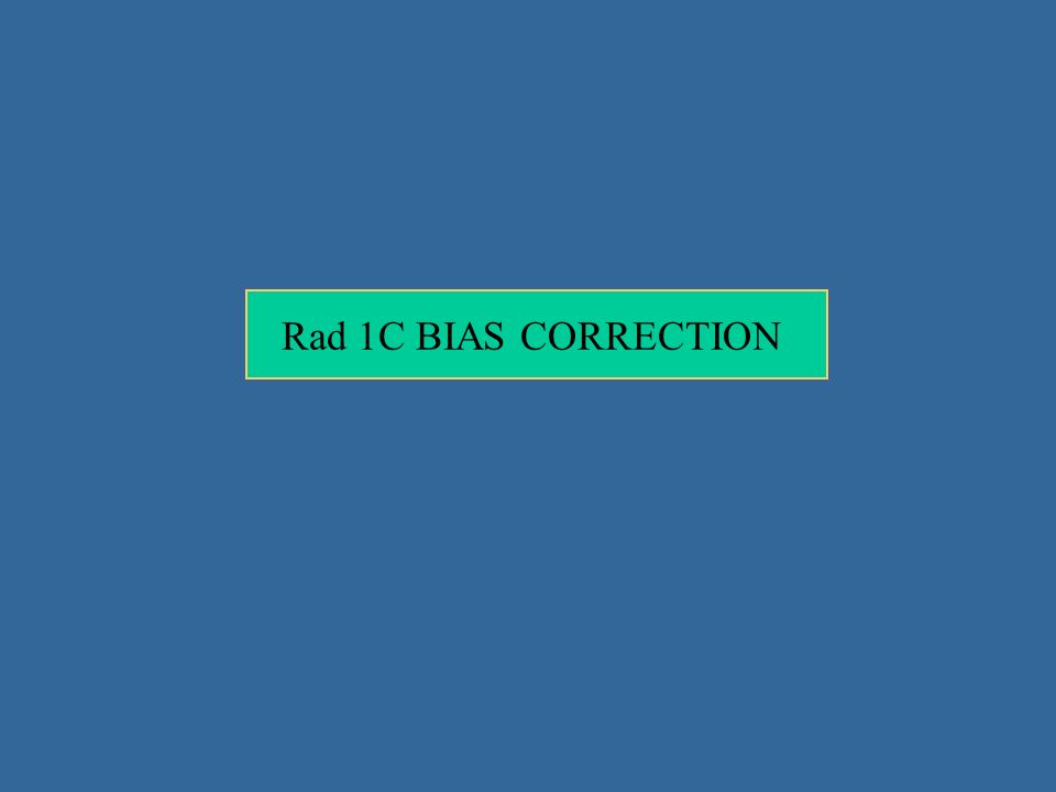 Rad 1C BIAS CORRECTION