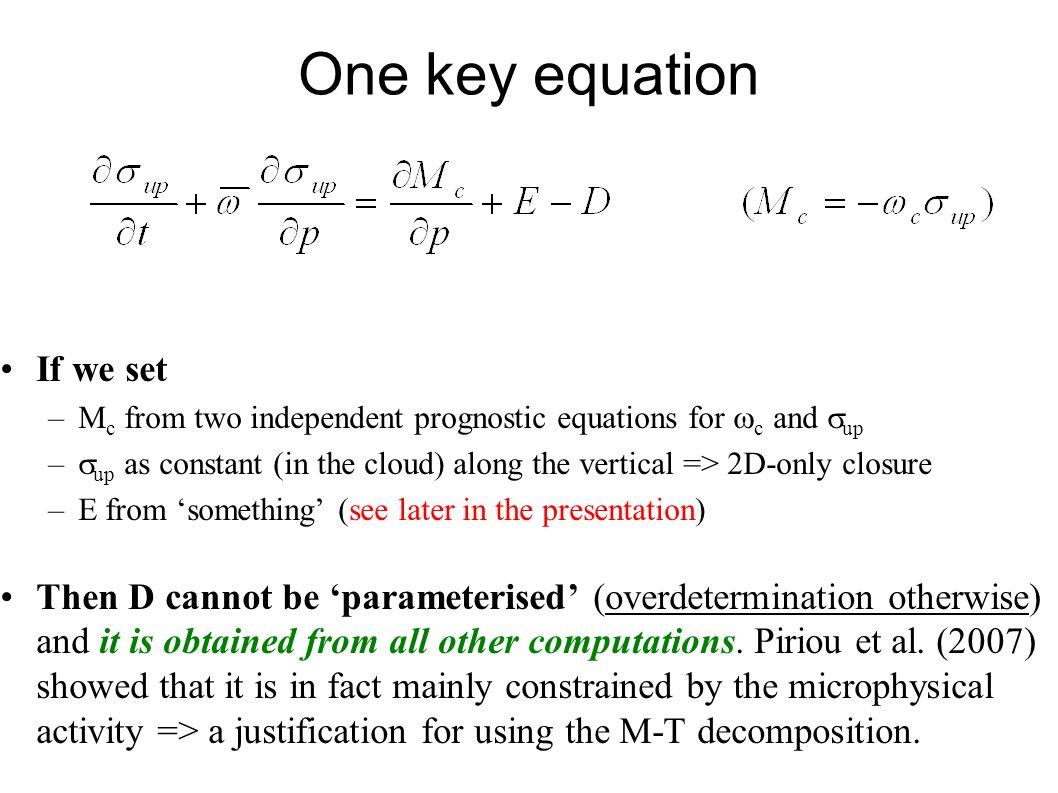 First results with prognostic entrainment Diagnostic 3MT computation.