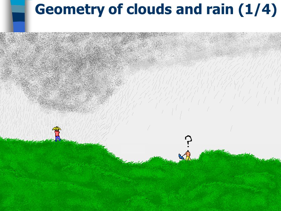 Geometry of clouds and rain (1/4)