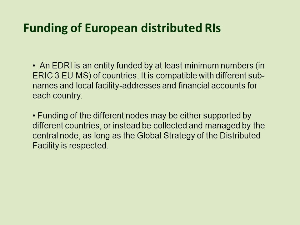The same rigour is needed in the selection of distributed nodes as for Central Node or Headquarters.