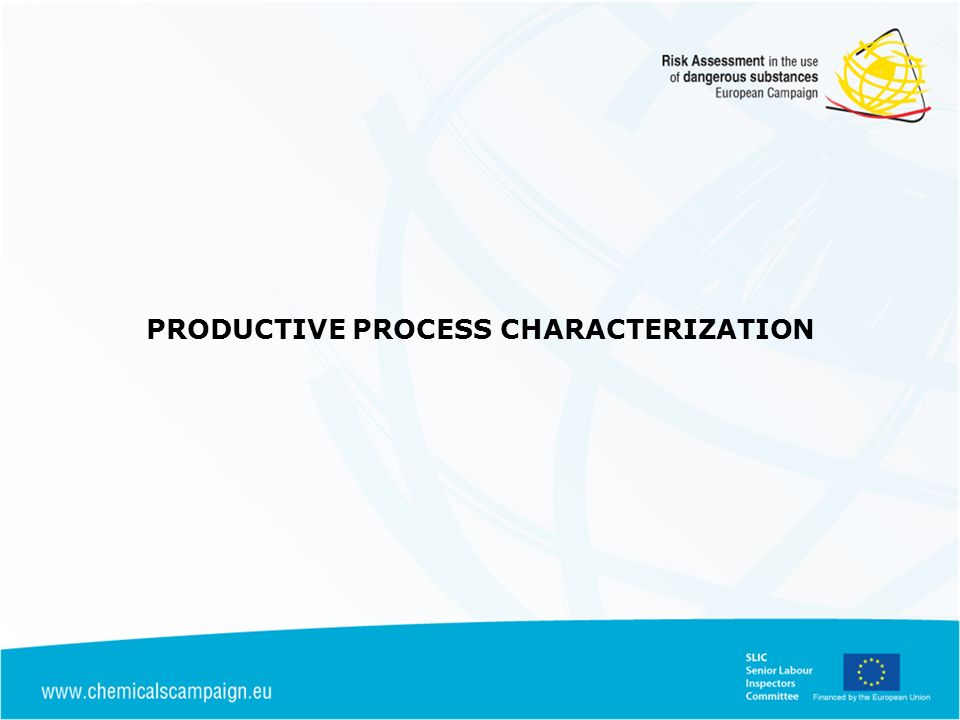 PRODUCTIVE PROCESS CHARACTERIZATION