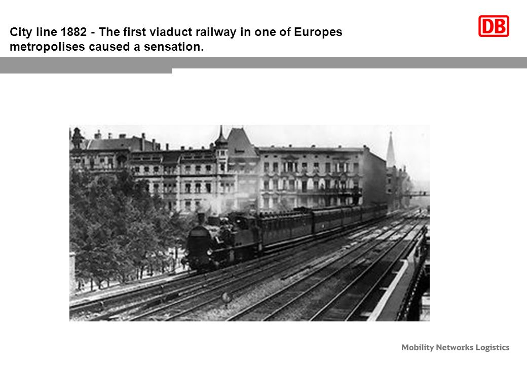 City line 1882 - The first viaduct railway in one of Europes metropolises caused a sensation.