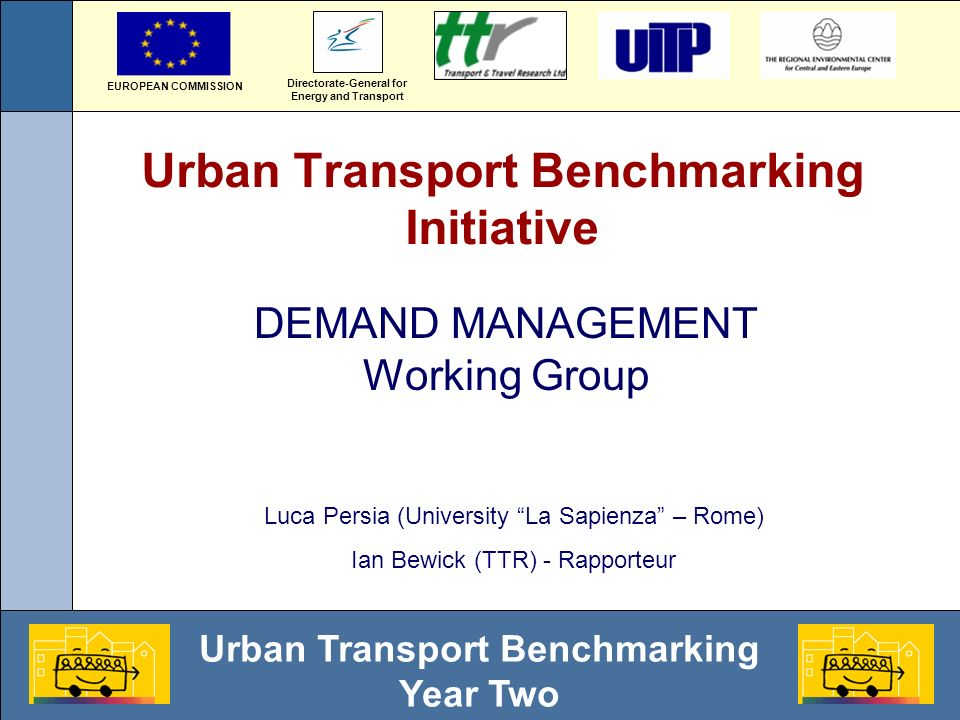 Urban Transport Benchmarking Year Two Parking policies linked to development (standards)?