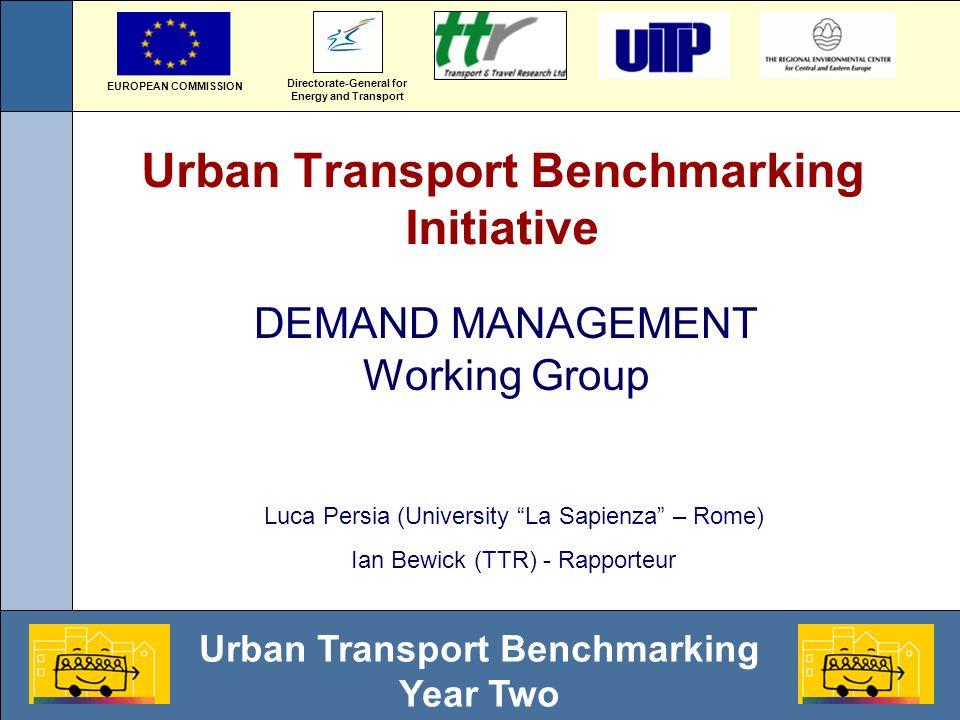Urban Transport Benchmarking Year Two Job density and car usage