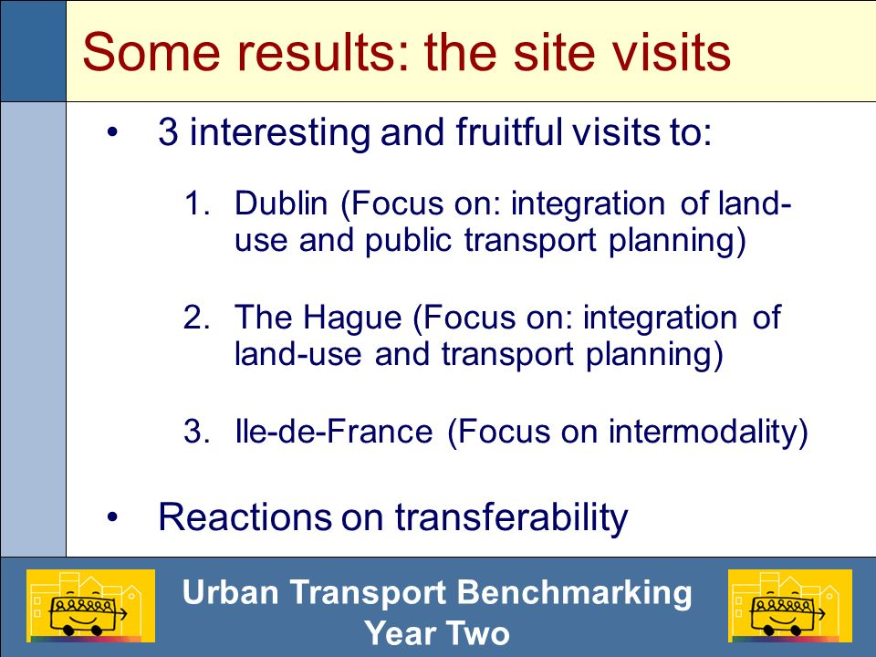 Urban Transport Benchmarking Year Two Some results: quantitative indic.