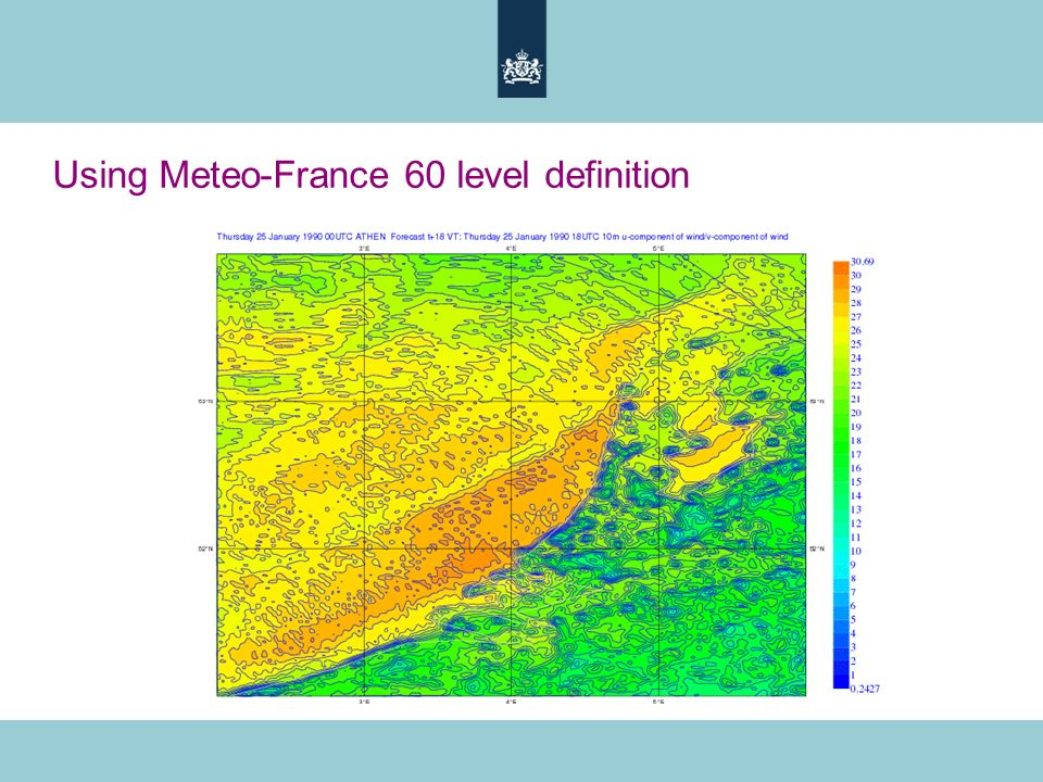 Using Meteo-France 60 level definition