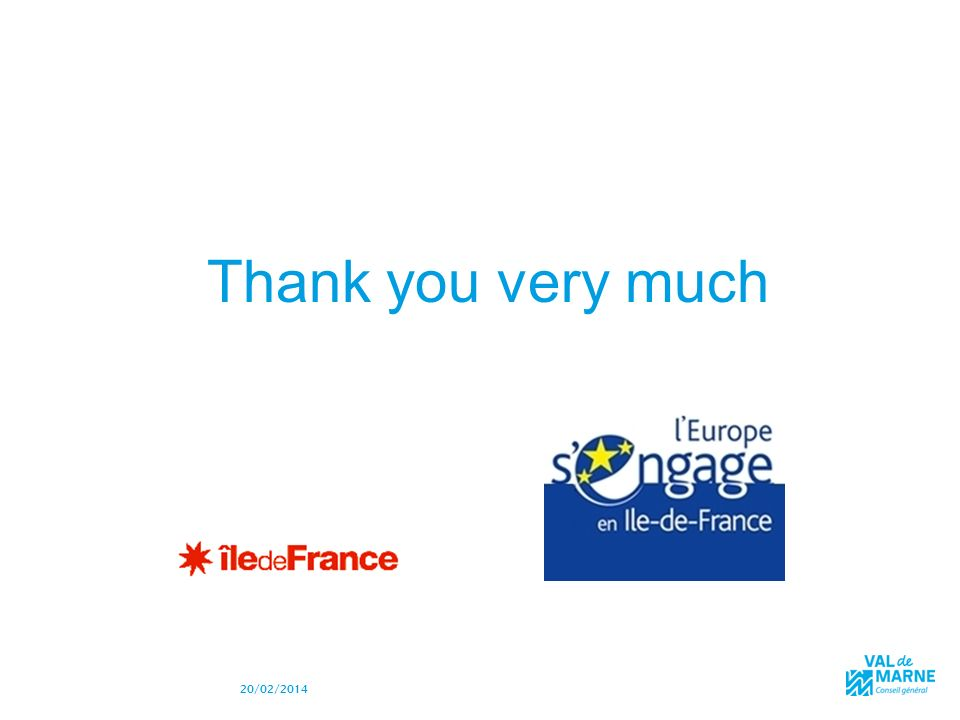 28 20/02/2014 MERCI Thank you very much