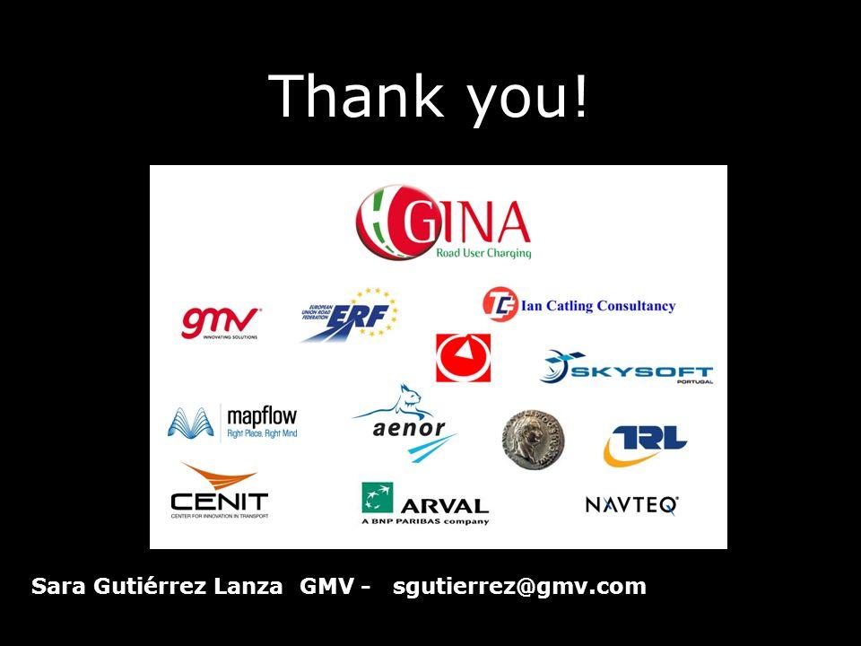 Thank you! Sara Gutiérrez Lanza GMV - sgutierrez@gmv.com