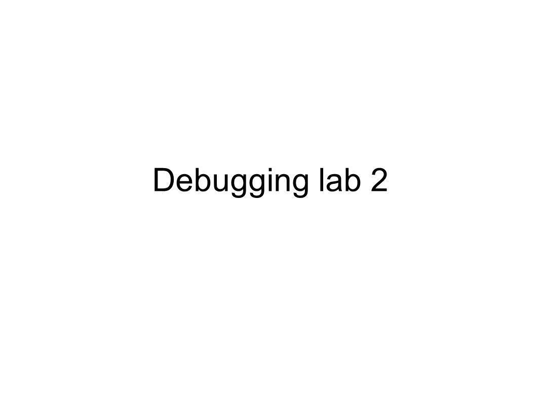 Debugging lab 2