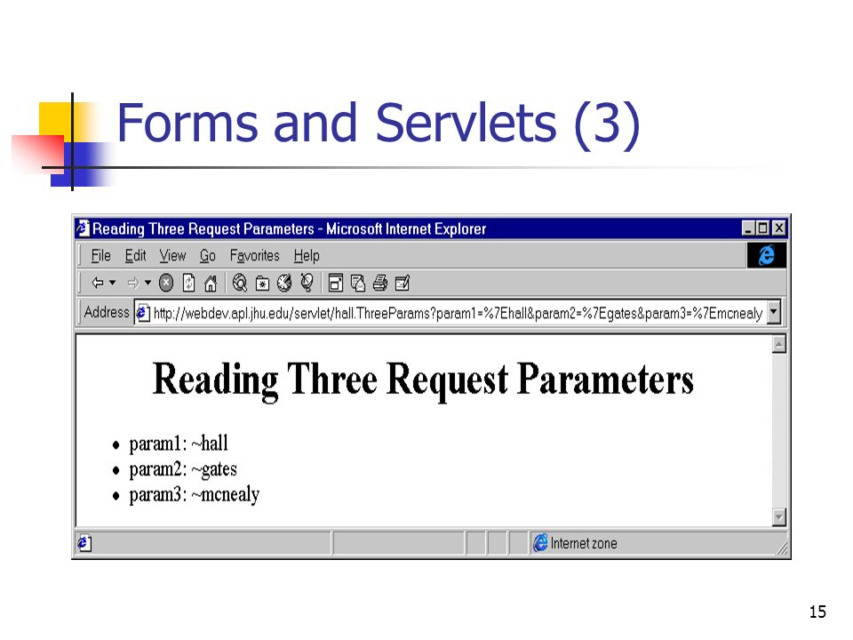 15 Forms and Servlets (3)
