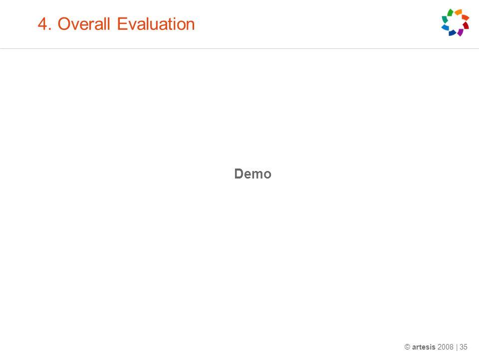 4. Overall Evaluation Demo © artesis 2008 | 35