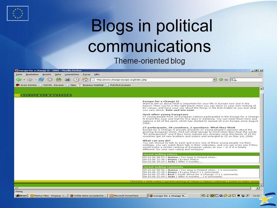 Blogs in political communications Austrian Media - http://blogs.salzburg.com/perterer/2006/03/foto_ohne_salzb.html http://blogs.salzburg.com/perterer/2006/03/foto_ohne_salzb.html