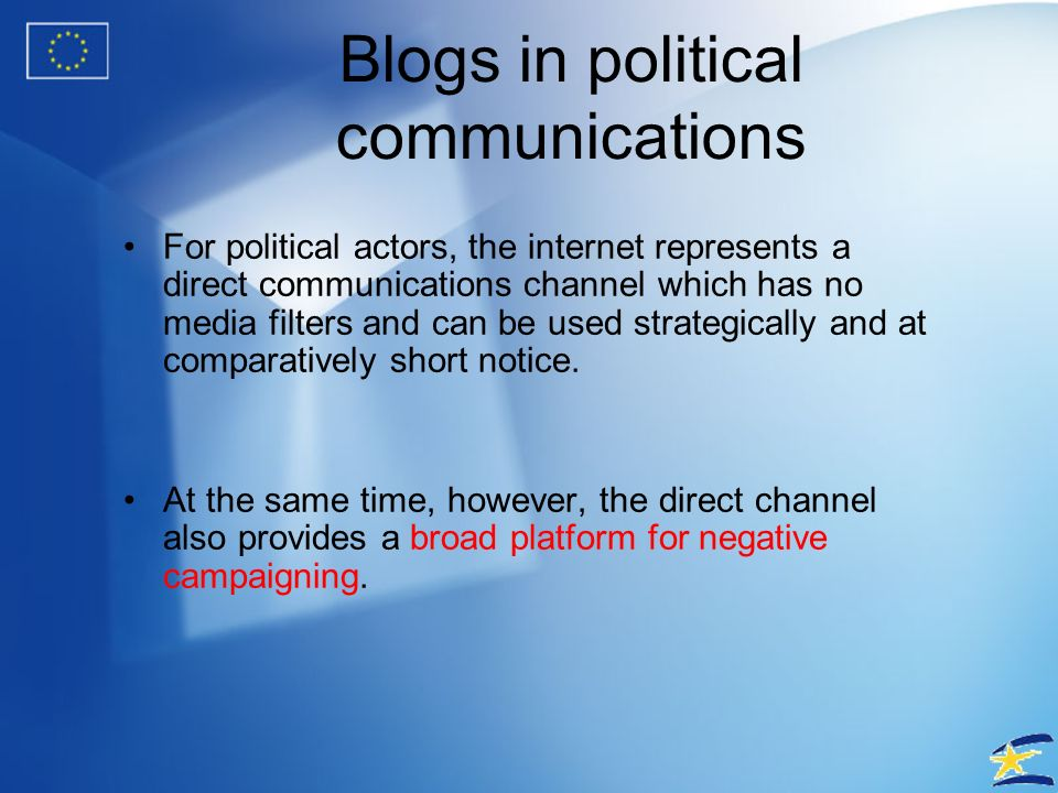Blogs in political communications – Blog of Margot Wallström, Vice-President of the European Commission