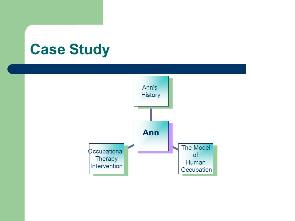 Case Study Ann Anns History The Model of Human Occupation Occupational Therapy Intervention