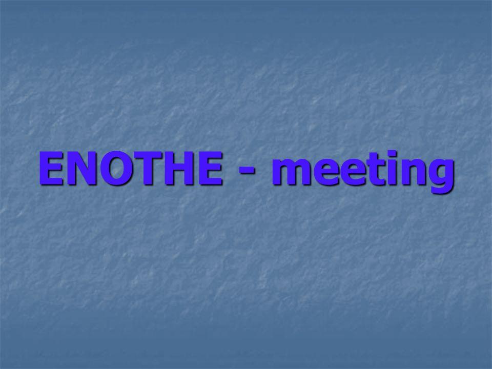 ENOTHE - meeting