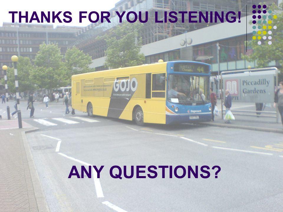 ANY QUESTIONS THANKS FOR YOU LISTENING!