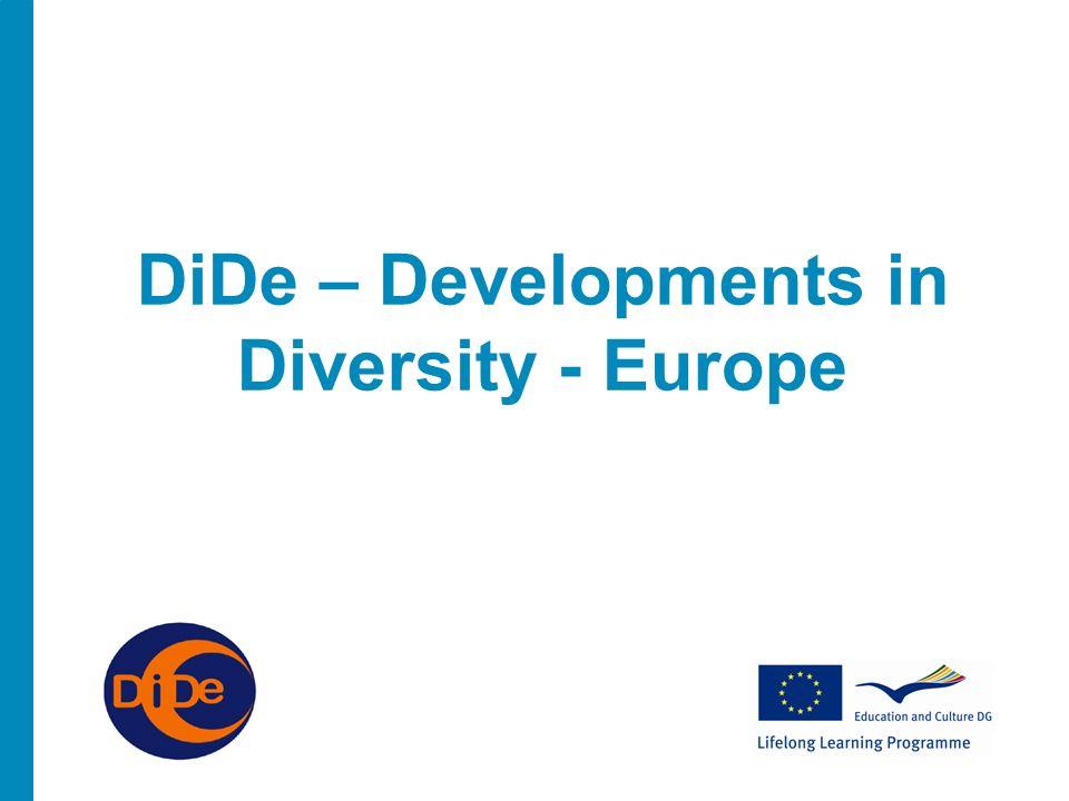 DiDe – Developments in Diversity - Europe